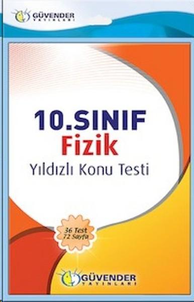 10. Sınıf Fizik Yıldızlı Konu Testi kitabı