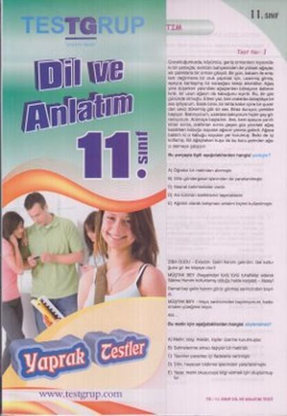 11. Sınıf Dil Ve Anlatım Yaprak Testleri kitabı