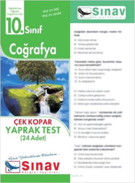 10. Sınıf Coğrafya Yaprak Test (24 Test)  kitabı