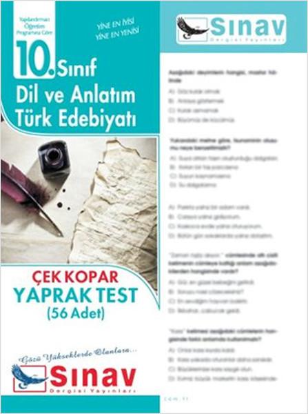 10. Sınıf Dil Ve Anlatım-Türk Edebiyatı Yaprak Test (56 Test)  kitabı