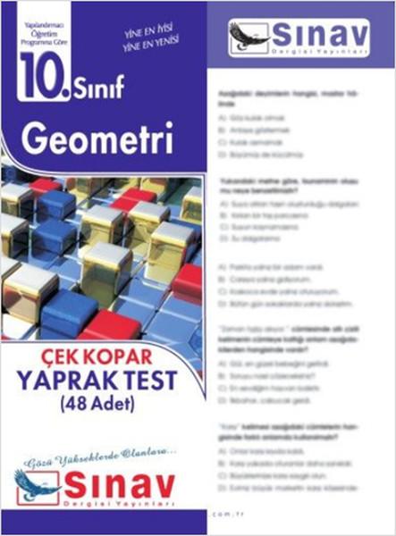 10. Sınıf Geometri Yaprak Test (48 Test)  kitabı
